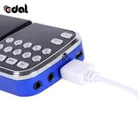 fm tf Portable Digital Stereo FM Mini Radio Speaker Music Player with TF Card USB AUX Input Sound Box Blue Black Red (5)