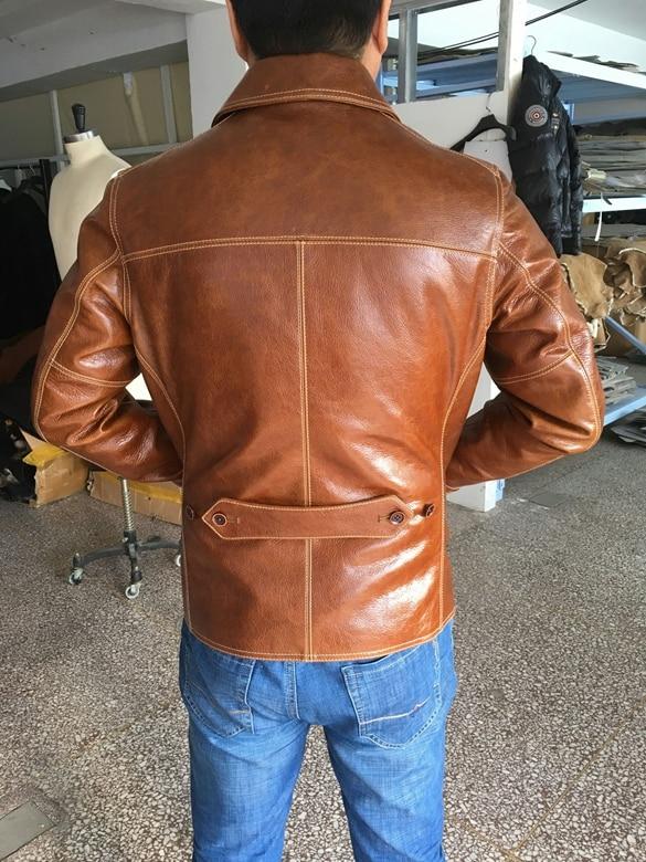 HTB1S1swyYSYBuNjSspfq6AZCpXaP Free shipping,Brand men's 100% genuine leather Jackets,classic oil wax cow leather jacket,japan brakeman jacket.original