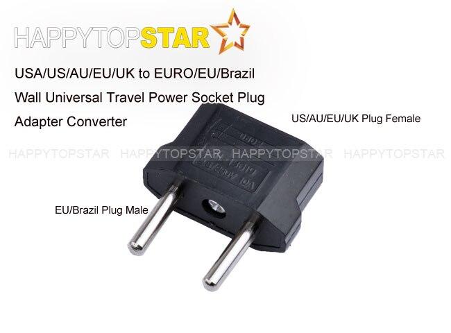 Free Shipping Universal Travel Plug Usa Us Au Eu Uk To Euro Brazil Ru Wall Socket Adapter Adaptor Converter In Photo Studio Accessories