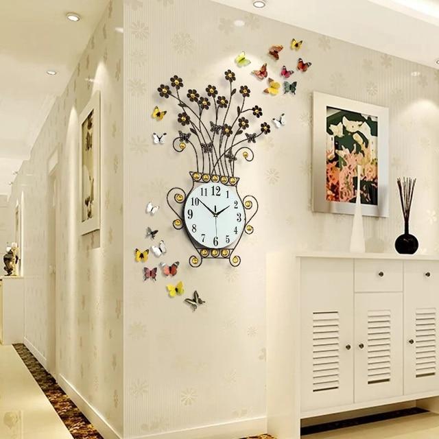 Conosciuto 3D Relógio de Parede Decoração de Casa Design Moderno Grande  EM44