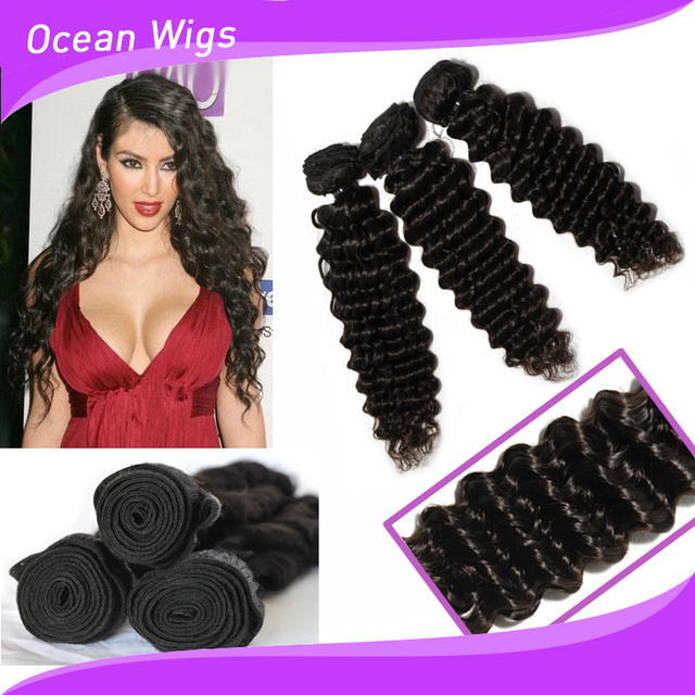 7a Indian Remy Hair Weave Wavy Crochet Braid Hair Weft Extension