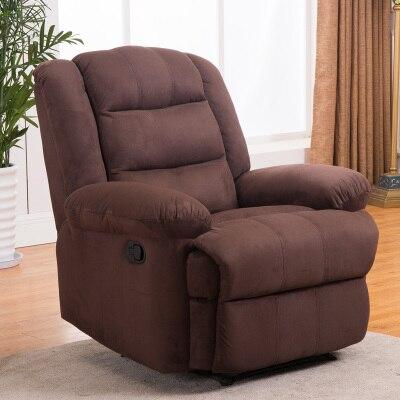 Европейский первый класс кабина Диван офисный дом Многофункциональный один диван стул лежа стул - Цвет: deep coffee velvet