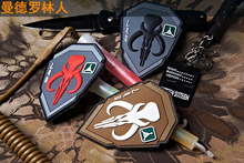 TAD Bounty Hunter Badge bounty hunter character with Hook And Loop armband pvc rubber tactical badge 3pcs(China)