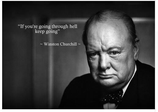 Winston Churchill Inspirational Art Wall Decor Silk Print Poster