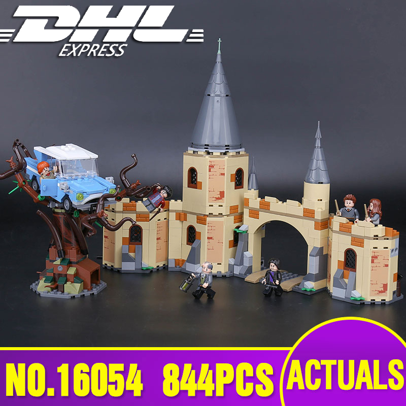 Lepin 16054 Harry Movie Potter The Legoinglys 75953 Hogwarts Whomping Willow Set Building Blocks Kids Toys Christmas Gifts Model in stock 16059 harry movie potter legoingp 75952 newt s case of magical creatrues set model building blocks kids toys christmas