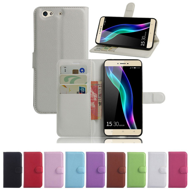 the latest d6547 15cc8 US $1.63 18% OFF|For Gionee S6 Wallet Flip Leather Case With Card Slots  Stand Holder Cover For Gionee S6 GN9010 Mobile Phone Bag-in Wallet Cases  from ...