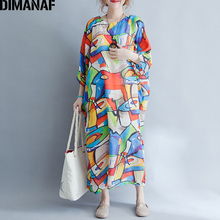 DIMANAF Women Summer font b Dress b font Big Size Linen Plus Size Beach Casual Panelled