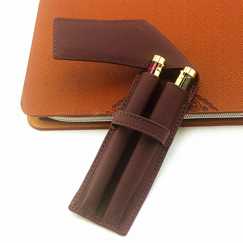 1pc New PU Leather Pencil Fountain Pen Storage Case Pens Pouch Bag Pouch Holder Durable