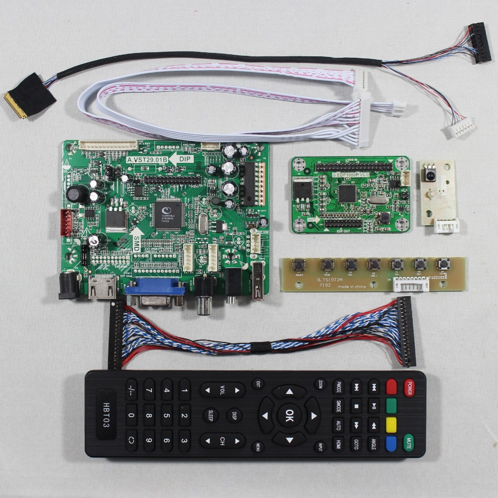 ФОТО HDMI VGA AV Audio USB FPV Controller board for N133HSE EA1 1920X1080 EDP LCD for raspberry
