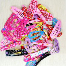 2016 Cute Hair Clip Baby Girls Bow Hair Accessories Headband Flower Hairpin 50 Pcs/lot Droplet Headdress Print Hairpins for Girl