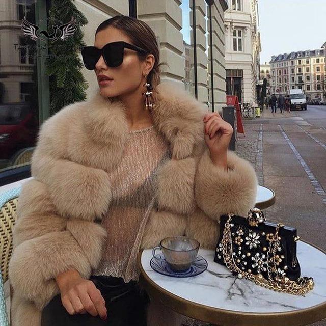 Tatyana Furclub Real Fur Coat Natural Fox Fur coat Jacket Fashion Fur Girl Winter Coat Female For Women Plus Size Can customized 2