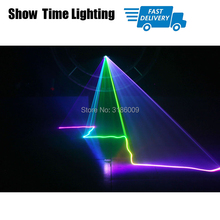 professional DJ Laser show Full Color 96 RGB Patterns Projector Stage Effect Lighting for Disco Xmas Party 1 head laser dj laser stage light 48 96 patterns laser projector 3w blue led stage effect lighting eu plug for disco light xmas party