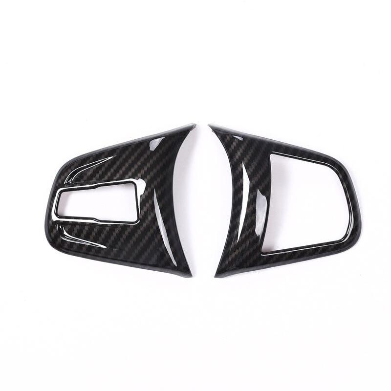 En fiber de carbone Pour BMW 2 série 218i f45 F46 X1 F48 2016 2017 ABS Chrome Volant Bouton Cover Version Voiture Accessoires Pour LHD