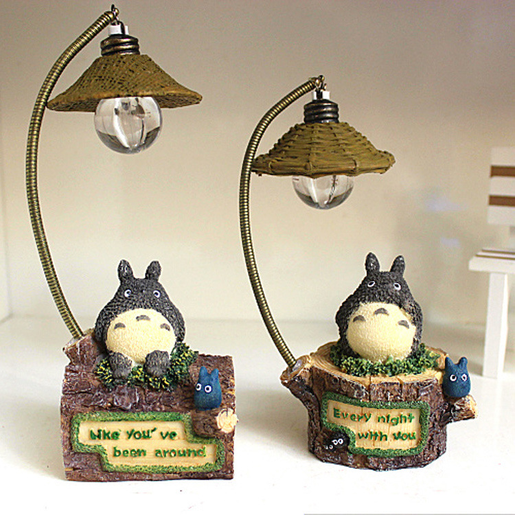 Online Shop Totoro lamp AC220v E27 creative rural rattan bedroom ...