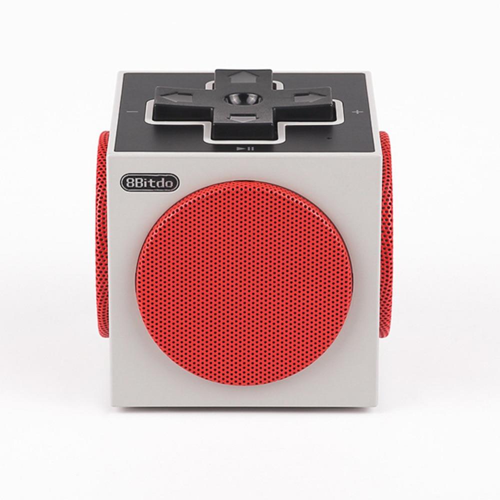 8BitDo Retro Cu-be Portable Bluetooth Speaker sound box V4.0 EDR Game Speaker Dpad Style original xiaomi square box bt4 0 edr speaker