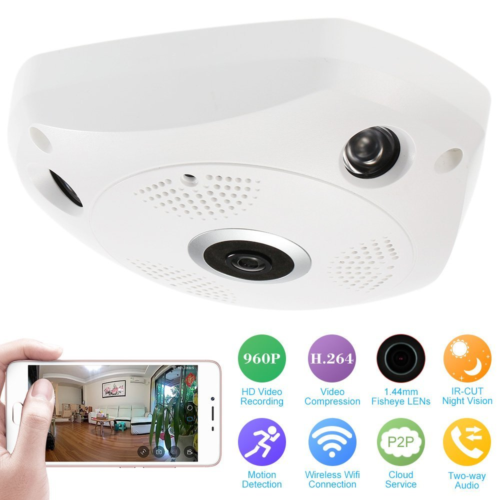 Wifi IP 360 Mini Camera 960P HD Small Camera Indoor P2P 360 Degree Micro Cam DV DVR Camera Motion Sensor Survellance Camera