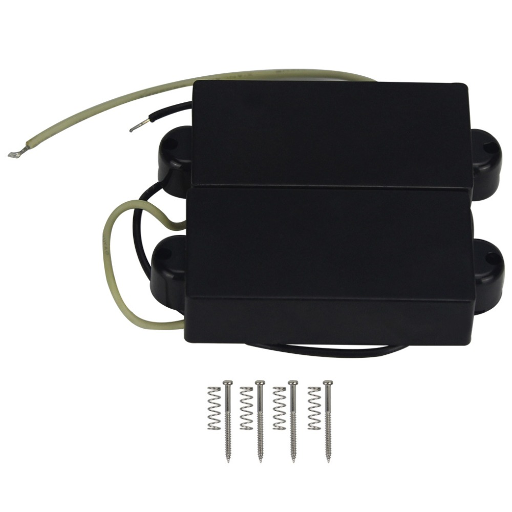 FLEOR Alnico 5 P Bass Pickups Humbucker Pickup for 4 String P Bass Replacement