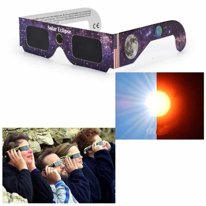 Tutela ambientale Pet Occhiali Eclissi Solare Colore Casuale 14*3.7cm Per Bambini Giocattoli a Energia Solare Total Eclipse Occhiali