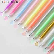 Hethrone 12pcs/set Fashion cool diamond Glitter Shining Gel Pen School art supplies Drawing Crafts Neutral highlighter Pen delvtch 6pcs set 1 0mm color gel ink pen glitter highlighter fluorescent pen art marker pens painting drawing student staionery