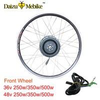 36 В 48 В 250 Вт 350 Вт 500 Вт Ebike комплект Электрический велосипед Conversion Kit двигателя колесо 20 26 700C бесщеточный Шестерни центр E Bike переднее колесо