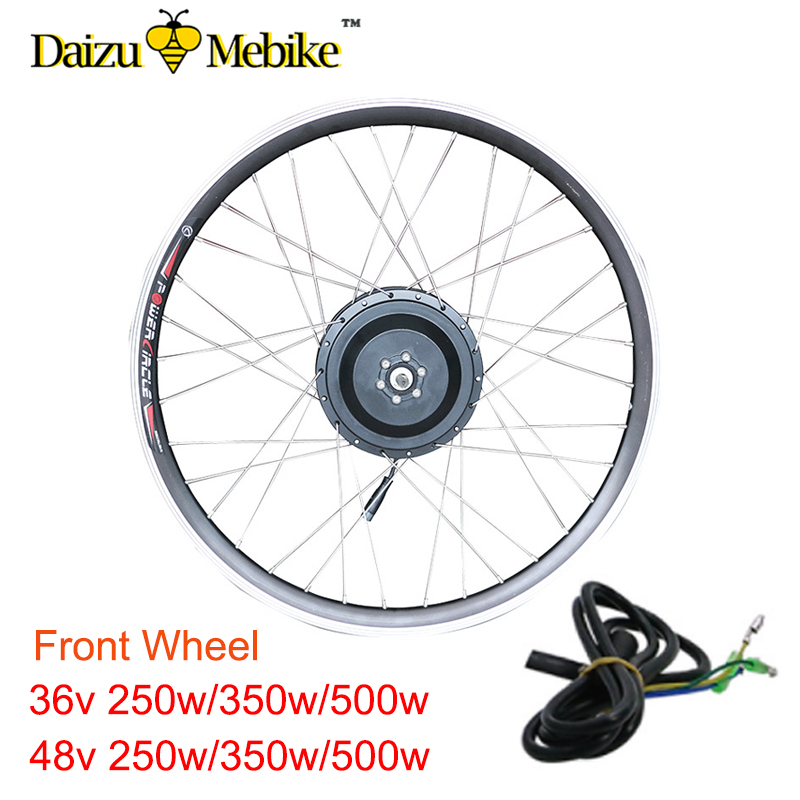 36 V 48 V 250 W 350 W 500 W Kit Ebike Kit de Conversion de vélo électrique roue de moteur 20