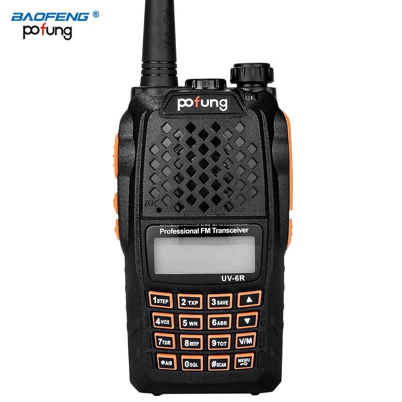2 PCS Baofeng UV 6R Walkie Talkie Ham VHF UHF Radio Station Transceiver Boafeng Dual Double