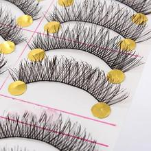 10 Pairs(20pcs)/set Natural Black Long Sparse Cross lashes  Lashes Extensions Tools massage