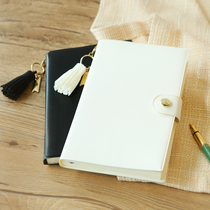 LORRAIN Original 2018 A5 Schedule Plan Notebook Black White Minimalist Tassels Notebook 1PCS туфли zenden woman zenden woman ze009awprf46