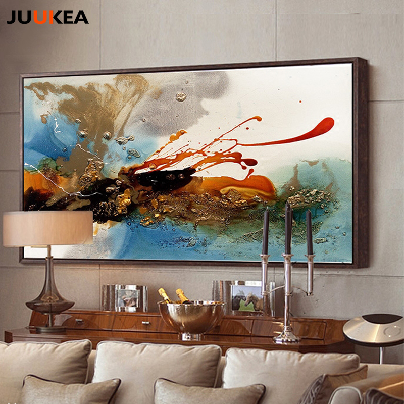 Big Canvas Art Modern Watercolor Abstract Ink Splash Big: 2017 Hot Sale Decorative Canvas Print Painting Poster