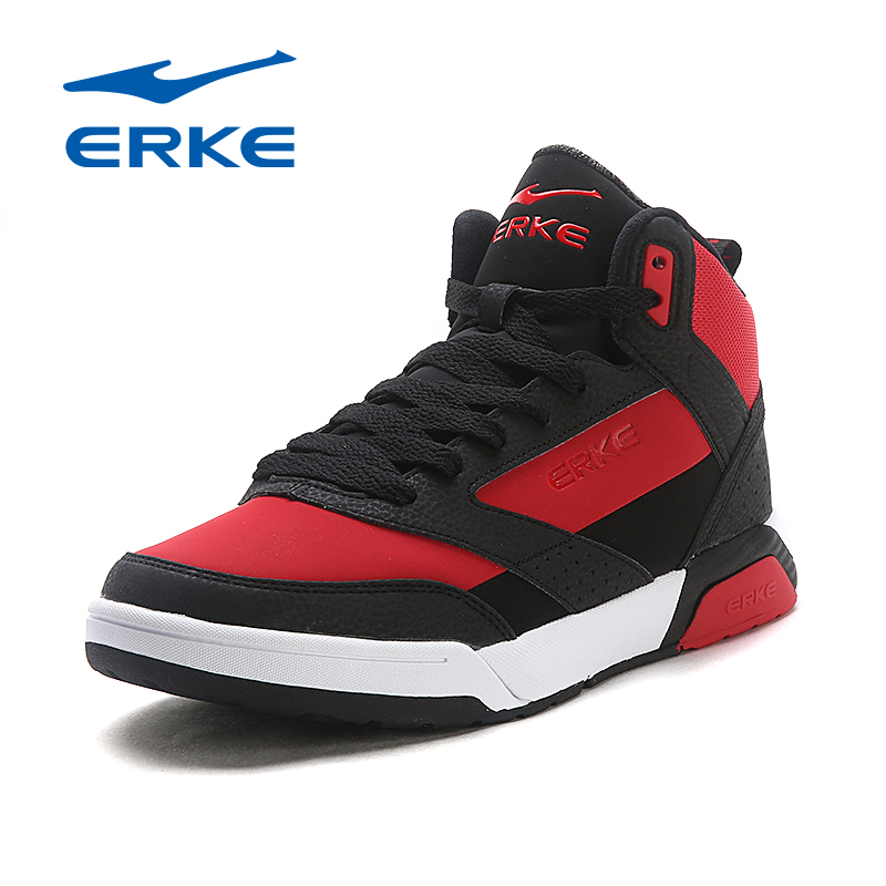 ERKE New Style Men Skateboarding Shoes High Top Mens Sneakers PU Leather Tenis Skate Shoes Breathable Sport Shoes Size 39-44