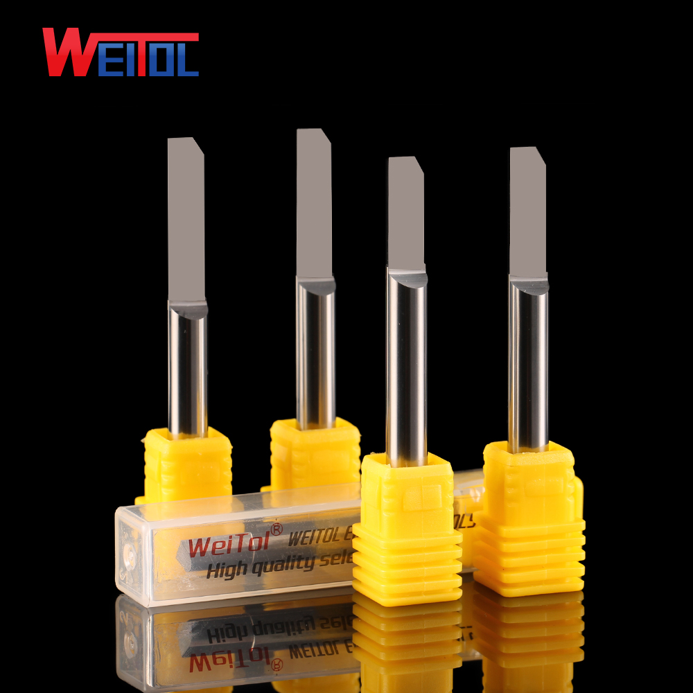Weitol free shipping 3A 6mm shank tungsten carbide half straight bit wood router bit CNC milling cutter for PVC/MDF/solid wood cnc router wood milling machine cnc 3040z vfd800w 3axis usb for wood working with ball screw