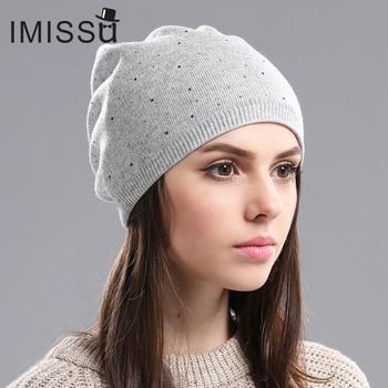 Women's Winter Wool Beanie Female Fashion Skullies Casual Outdoor 3