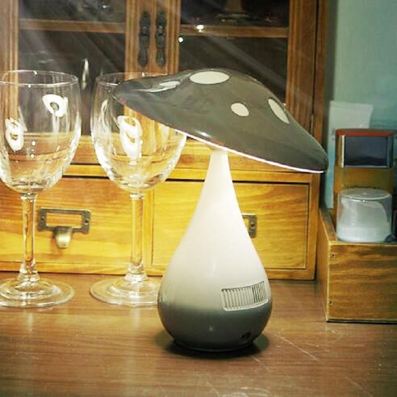ФОТО LED Mushroom Lamp light  Air Purifier for Home USB Anion Purifier Ozonizer Air Cleaner Air Ionizero for Bedroom