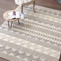 Simple Modern Hand made Wool Carpet Living Room Sofa Tea Table Bed Mat Non Slip Bedroom Rug Home Decorator Floor Carpet