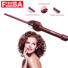Ceramic Styling Tools professional LCD Display Hair Curling Iron Hair Pear Flower Cone Electric Hair Curler Roller Curling Wand 32mm ceramic anion hair curler comb hairbrush lcd curling straighting straightener brush roller iron fashion styling tools s34