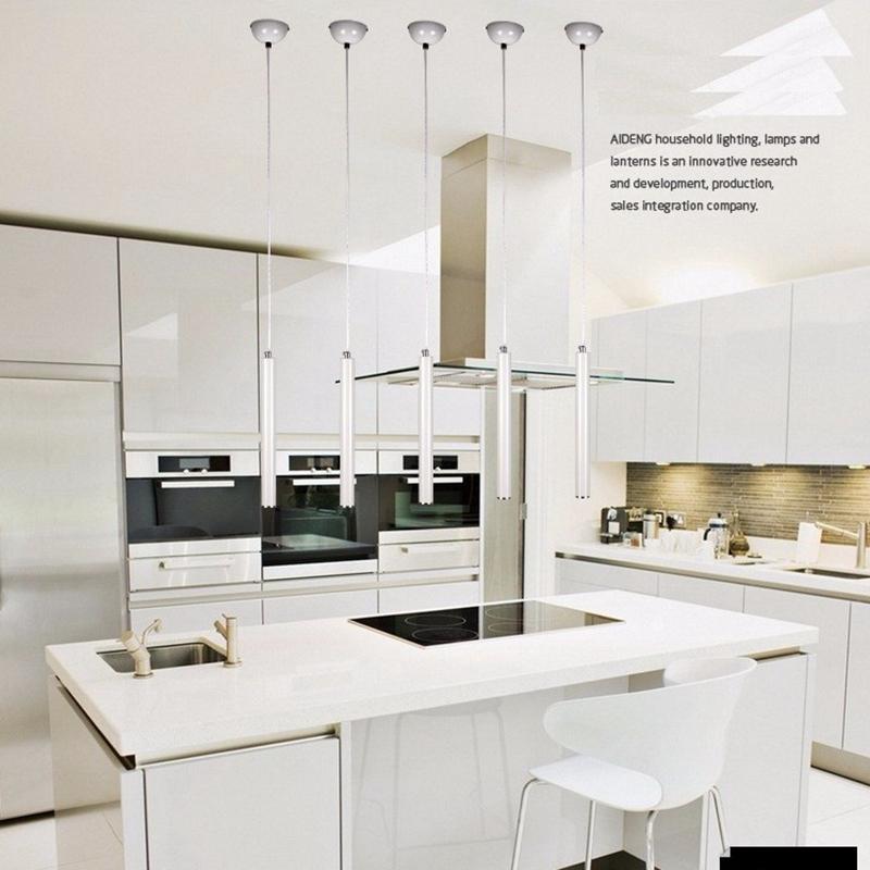 lukloy luces colgantes cocina moderna lmpara de comedor saln tienda de tubo de luz colgante