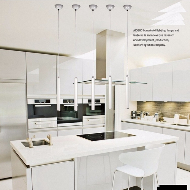 Lukloy Lámparas colgantes lámpara de cocina moderna comedor Sala Luz ...