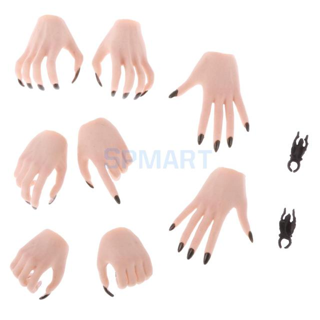 1/6 Scale  Claw Shaped Hand Models for 12inch Female Action Figure Body Parts 1/6 scale hand modelmodel female body -