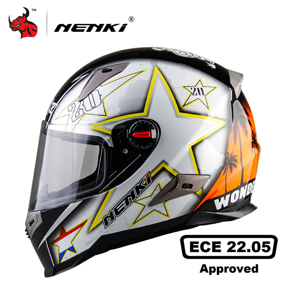 NENKI Motorcycle Helmets With ECE Certification Moto Helmet Motocross Racing Helmet Motorbike Full Face Helmet Capacete De Moto mother