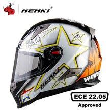 NENKI Motorcycle Helmets With ECE Certification Moto Helmet