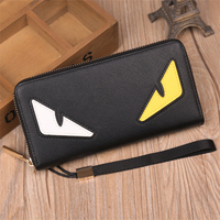 Luxury Monster Bags Designer Long Wallets Famous Brand Women Leather Wallet Design Purse Ladies Clutches Handbags