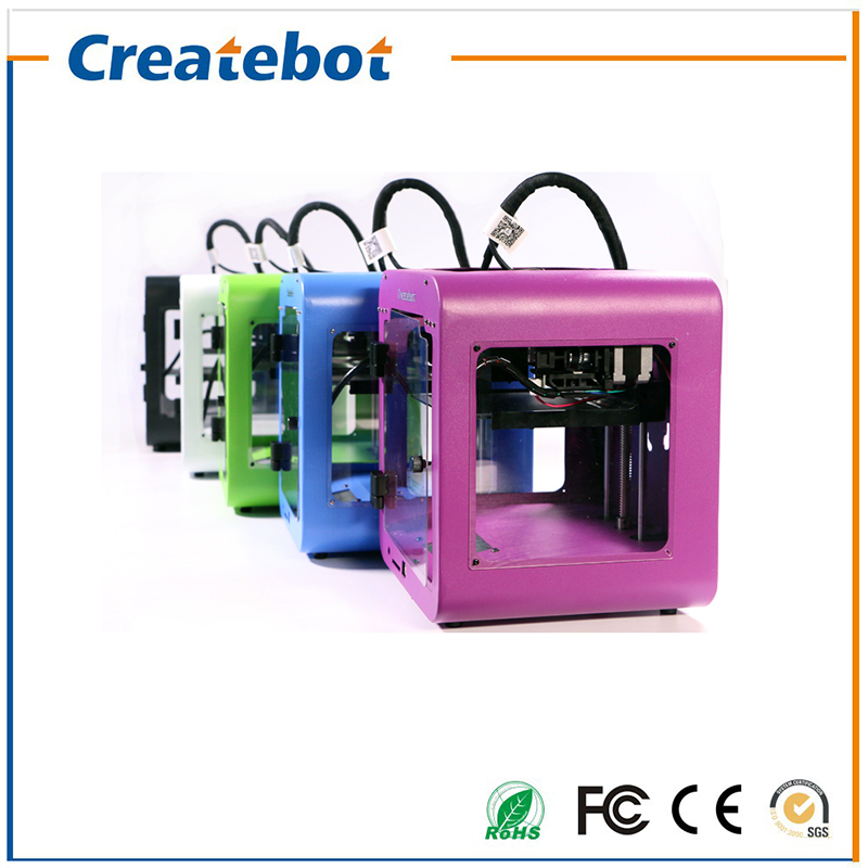 Newest Createbot Super mini  3D Printer kits High Quality Desktop Full colors 3d printer with 1 Roll filaments 1GB SD Card high precision createbot super mini 3d printer no assembly required metal frame impresora 3d 1roll filament 1gb sd card gift