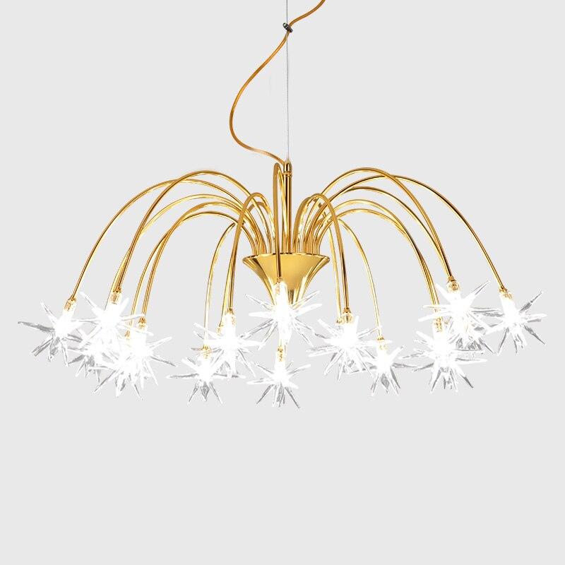Nordic метеорный поток люстра творческая личность подвесной светильник led гостиная подвесной светильник люстры Освещение fittting