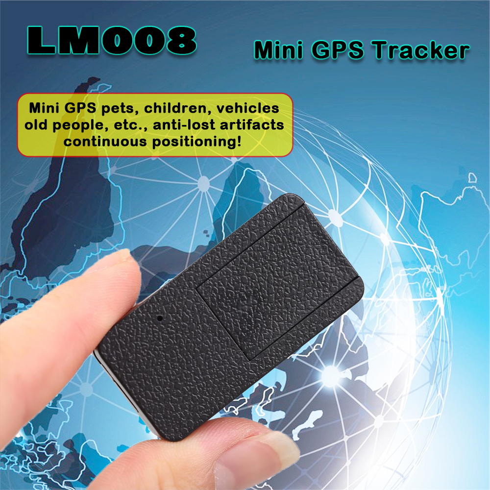 Mini GPS Tracker Anti-theft GPS LM008 Portable Positioning Artifact Anti-Lost Locator for Pets Childre Vehicles move alarm