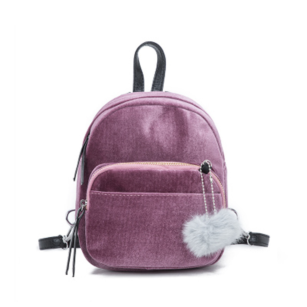 Useful Drop Shipper Backpack Women Mini Travel Backpack Female Velour Backpacks Ladies Mini Travel Backpacks Casual Daypack Satchel#23 Fixing Prices According To Quality Of Products Women's Bags
