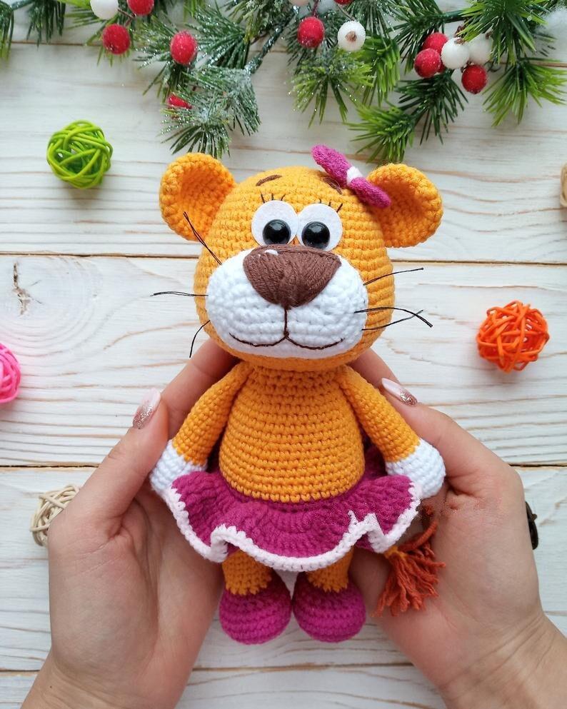 Crochet Toys  Amigurumi  Handmade    Rattle  Bear   Model  Number  DXB006