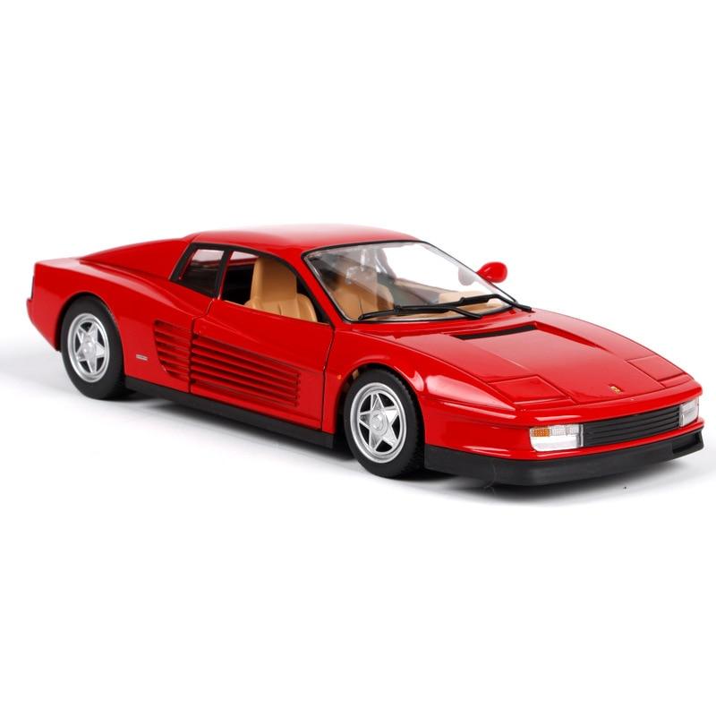 Bburago 1 24 Simulation Metal sport car Diecast car model toy For Ferrar TESTAROSSA with Steering