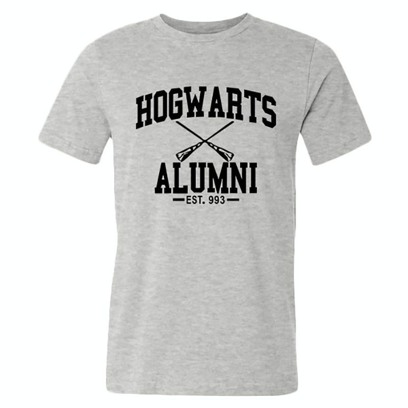 New Novelty Design Hogwarts Alumni T Shirt Men Women Harry Funny Potter T-shirts Short Sleeve O-neck Cotton Tshirts S-XXXL