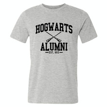 New Novelty Design Hogwarts Alumni T Shirt Men Women Harry Funny Potter T-shirts Short Sleeve O-neck Cotton Tshirts S-XXXL
