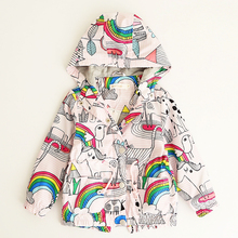 Bear Leader Girls Coats and Jackets Kids 2017 Autumn Brand Children For Girls Clothes Cartoon Print Outerwear Hooded For 3-7Y